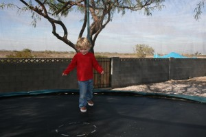 Trampoline Put To Good Use