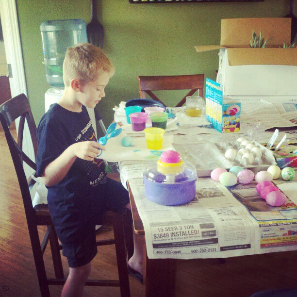 Coloring Easter Eggs - 2012