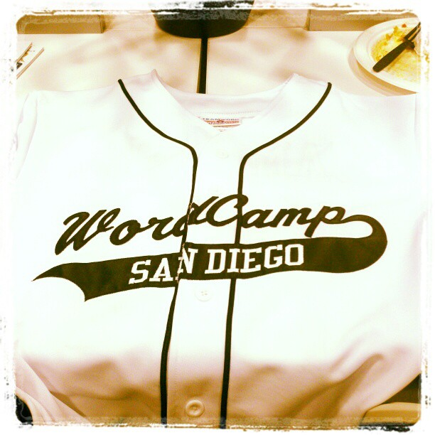 The Baseball jerseys for speakers at WordCamp San Diego were awesome